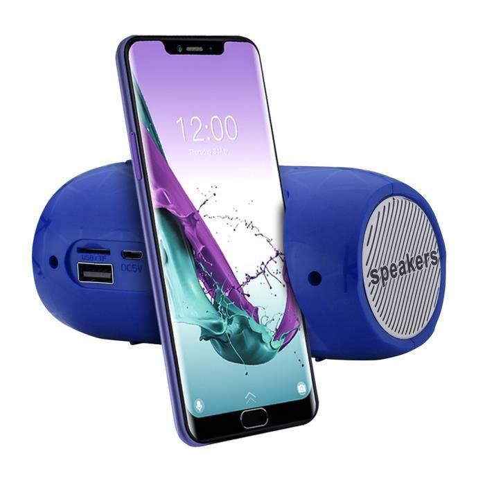 Stéréo Portable Carte Sd Sans Fil Bluetooth Fm Haut-parleur Pour Smartphone Tablet Pc Orateur 736