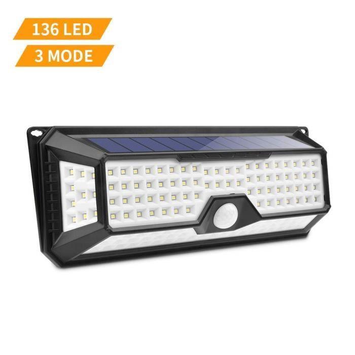 3 Ip65 De Intelligents 136 Solaire Modes Extérieur Led Lampe etanche Lumière Mouvement Exterieur Avec Détecteur eWEHYD2I9