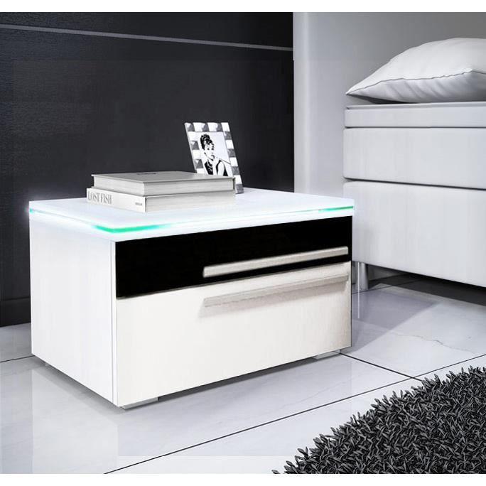 design ameublement table de chevet levante noir blanc. Black Bedroom Furniture Sets. Home Design Ideas
