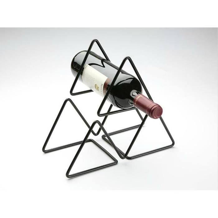 porte bouteille neuf fer forge triangle noir 25cm d coration cave vin achat vente range. Black Bedroom Furniture Sets. Home Design Ideas