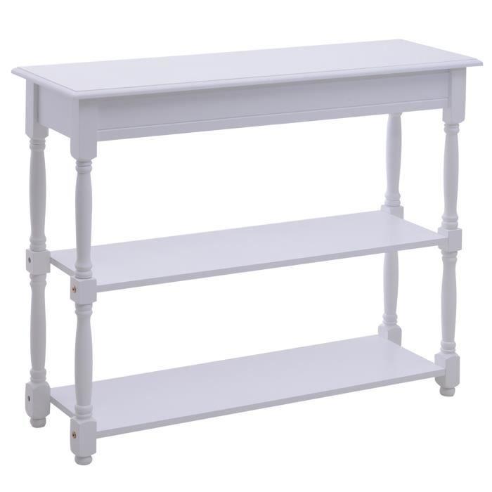Console avec tiroirs et etagere achat vente console avec tiroirs et etagere pas cher cdiscount - Console murale avec tiroir ...