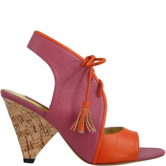 Escarpin femme en cuir ADINA Orange