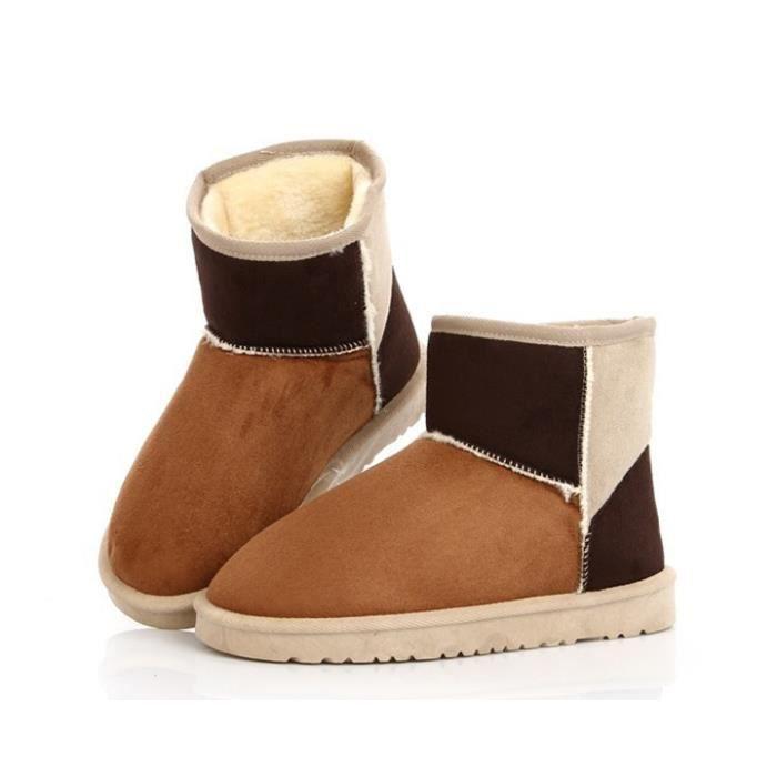 Chaud Botte Bottine neige Chaussures d'hiver sucrerie de couleur neige Bottines Wnq8BFdCmJ