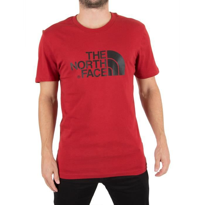6d7f30203 The North Face Homme Easy Logo T-Shirt, Rouge Rouge Rouge - Achat ...