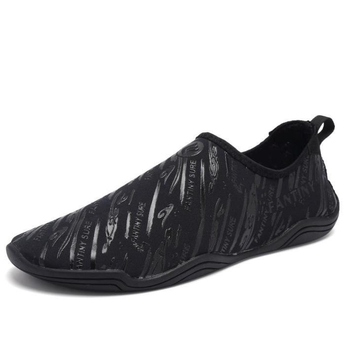 Pieds nus rapide à sec Sports nautiques Chaussures Aqua Avec 14 trous de drainage pour nager, Marche, Yoga, Lac, Bea XWFC2 Taille-44