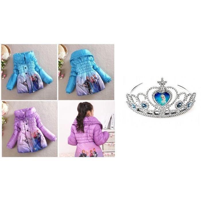 Reine Ou Set Doudoune Neiges Bleue Elsa Manteau Violet Enfant Et Des qpSwTf