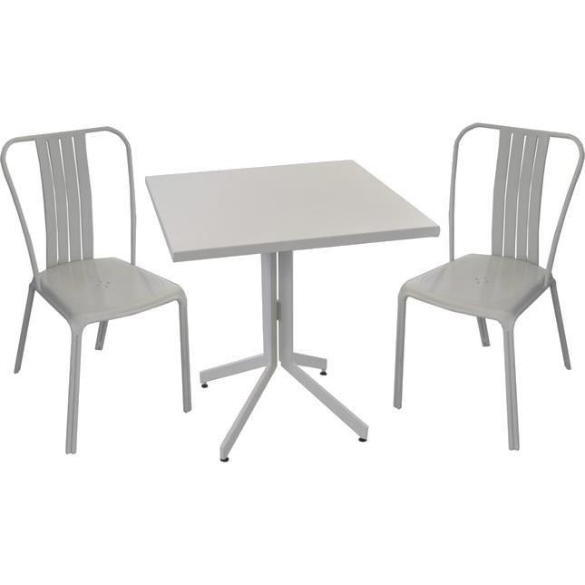 Ensemble table et chaises en aluminium urban - Achat / Vente salon ...