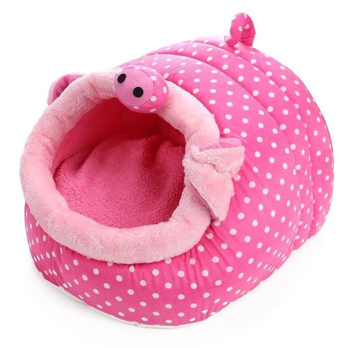 S/m/l Maison Panier Lit Corbeille Amovible Chat Chien Animaux Chatière 5 Style Pig s
