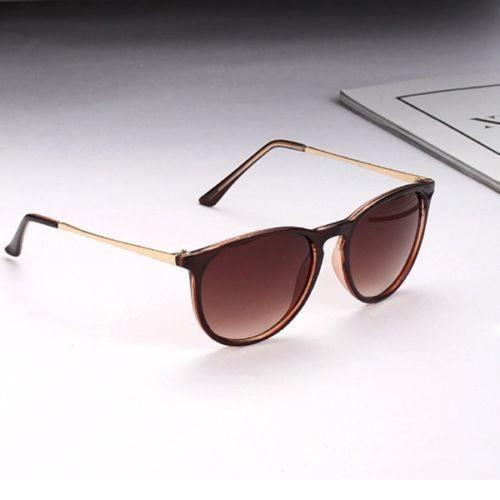 m6967 Lunettes à pattes dun cadre métallique cool, lunettes de soleil pour femmes Rondes Rétro