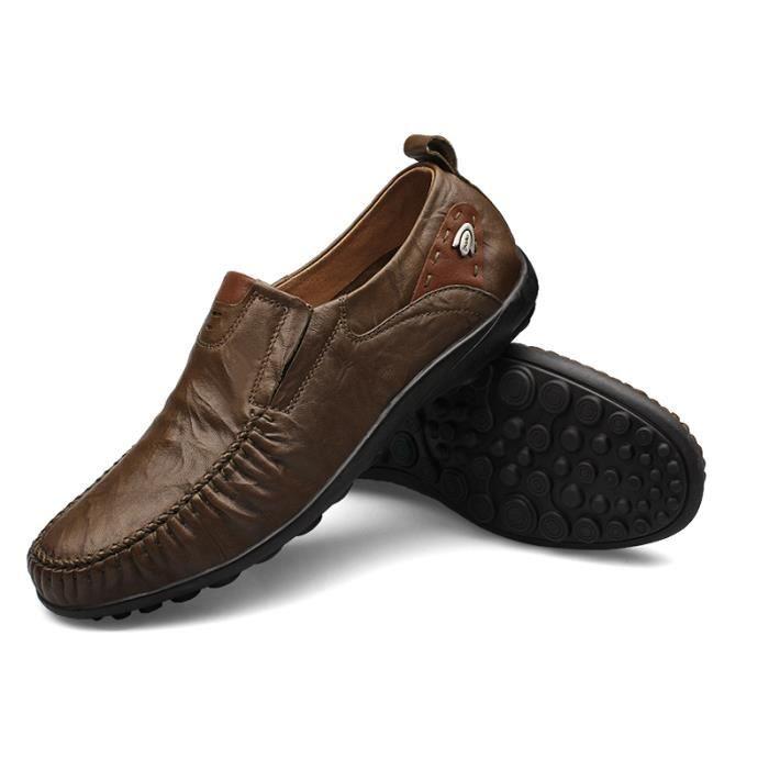 XZ76Vert37 BBJ Chaussures Ete Mocassin Mode Detente Hommes fxOcZczYq