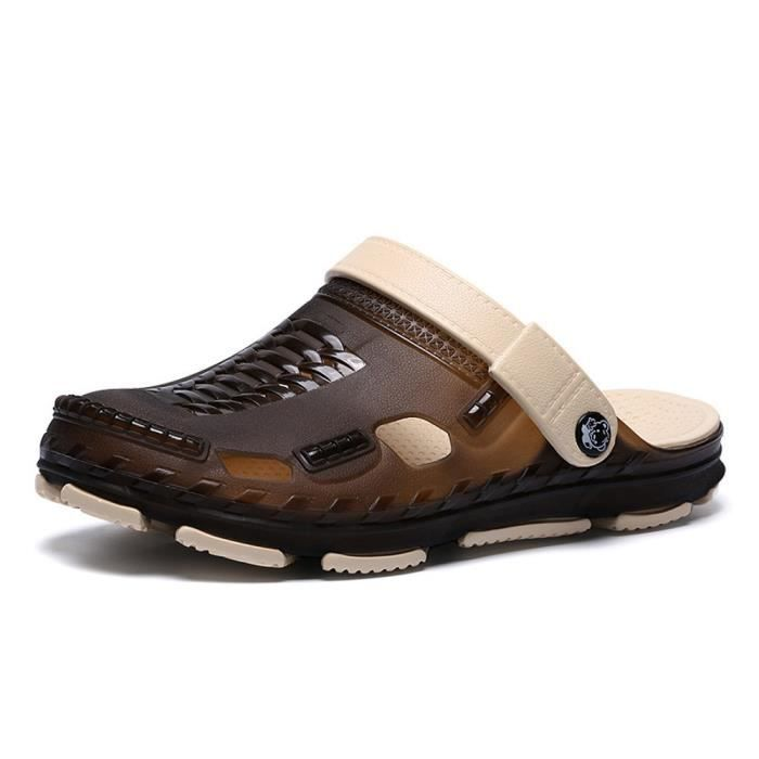 De Chaussures Plates Plage Flip Flops En Pantoufles D'été Hommes Air Sandales Plein café Marche iZOPXku