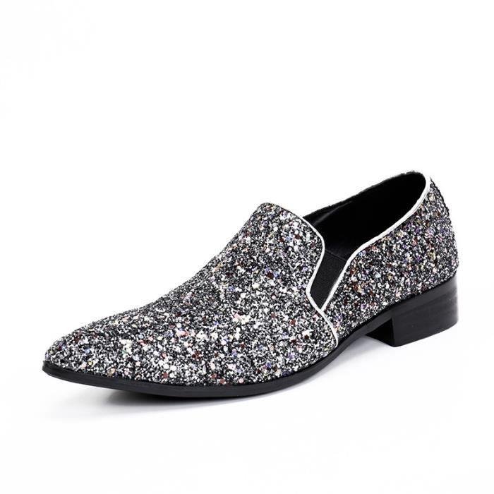 Bling Casual Mode Chaussures Designer Oxfords 2017 Hommes Mocassins Arrivage Marque Party Men Nouvel Pour Flats qPnEft