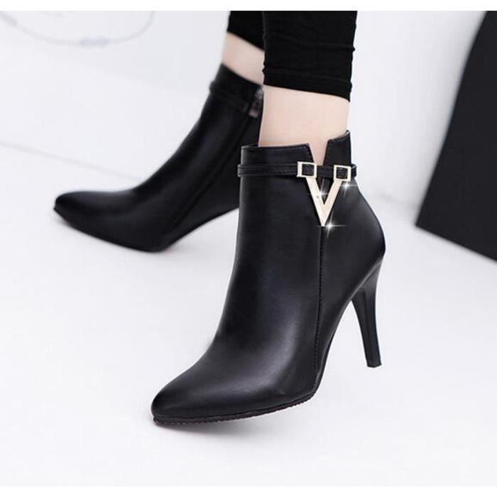 Chaussures à talon nouveau pointu femelle couleur pure