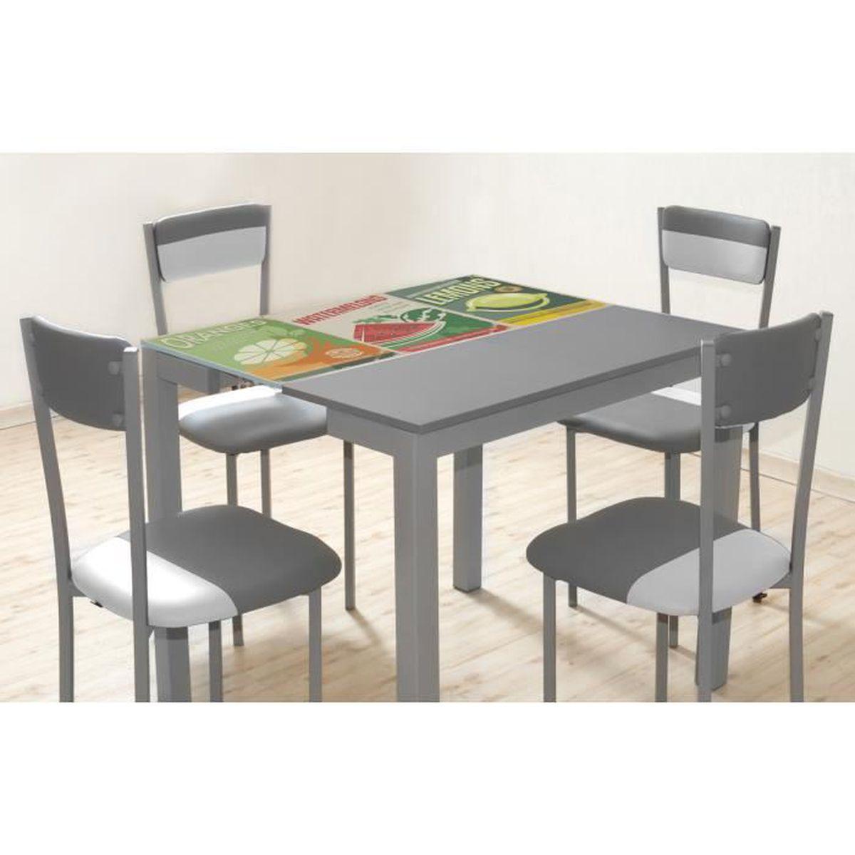 Table jardin verre extensible - Achat / Vente pas cher