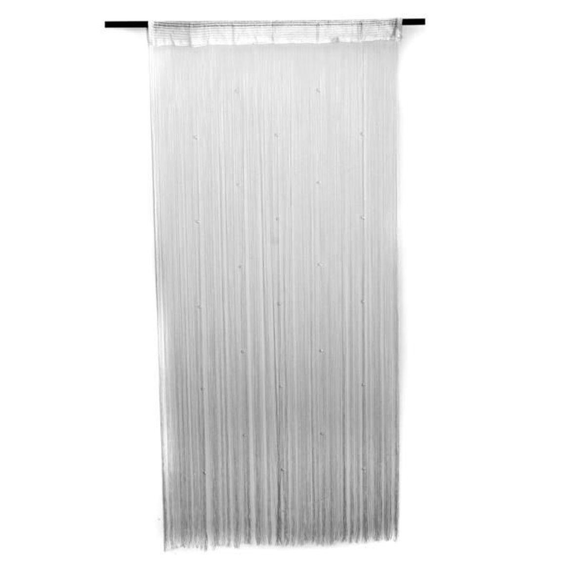rideau voilage fenetre blanc achat vente rideau voilage fenetre blanc pas cher cdiscount. Black Bedroom Furniture Sets. Home Design Ideas
