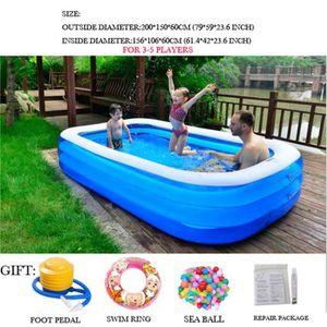 2 m tres piscine gonflable piscine familiale adulte jeu d 39 enfant jouets d 39 eau grand bassin de. Black Bedroom Furniture Sets. Home Design Ideas