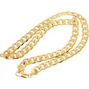 MAILLON DE BRACELET collier solide plaqué or 24k jaune hommes classiqu ... b8f0136fe2d5