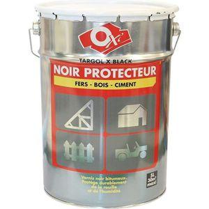PEINTURE - VERNIS Noir protecteur - Protection pour bois, fer ou …