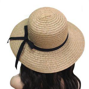 d79206f5f0226 Elégant Chapeau de Soleil Chic en Paille Femme Fille Bord Plage Mer Eté  Voyage