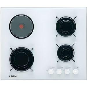 PLAQUE MIXTE Plaque de cuisson gaz 60 cm - 3 foyers gaz + 1 foy