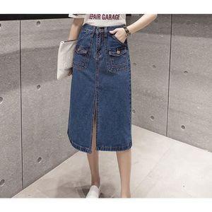 b3df7d59358711 Jupe longue jean - Achat / Vente pas cher