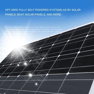 KIT PHOTOVOLTAIQUE Panneau solaire monocristallin flexible 100W 12V a