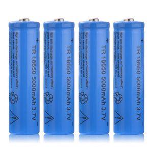 PILES 4pcs TR 18650 5000mAh 3.7V batterie Li ion recharg