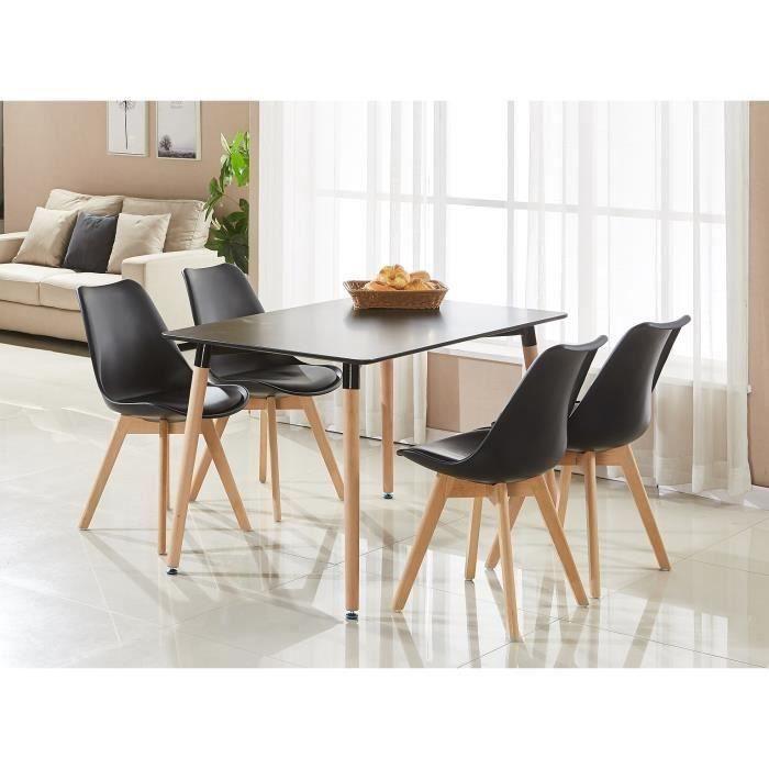 Ensemble table de salle manger complet table noire 4 - Treteaux pour table salle manger ...