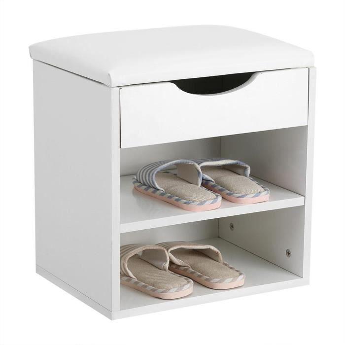 banc coffre d 39 entr e meuble chaussures 40x43x30cm achat vente meuble d 39 entr e banc coffre. Black Bedroom Furniture Sets. Home Design Ideas