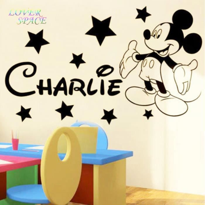 Mickey souris stickers muraux pour enfants chambres nom for Stickers mickey chambre