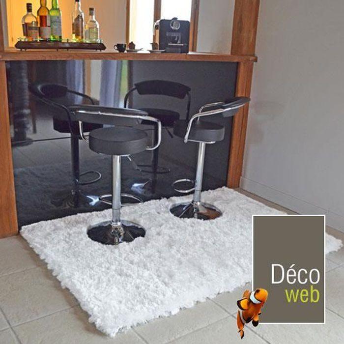 tapis pop poils longs blanc neige 120 x 170 cm livraison gratuite achat vente tapis. Black Bedroom Furniture Sets. Home Design Ideas