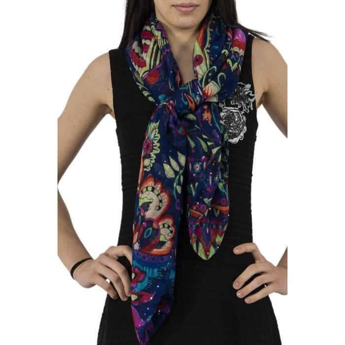 d389f77d2a9 ECHARPE - FOULARD foulards desigual 71w9eg7 vakiria rectangle bleu