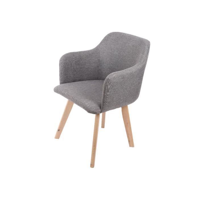 Chaise Avec En Tissu Accoudoir Et Pitement Bois Massif Norma