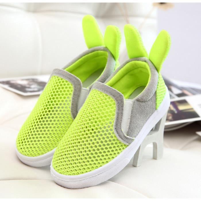 Été chaussures de tennis chaussures casual chaussures étudiants lapin mignon oreille chaussures respirantes-Vert.. SWXWgWVTz