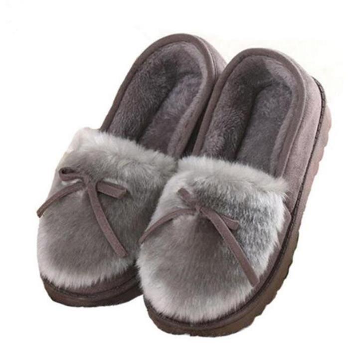 Moccasins femme Peluche Marque De Luxe 2017 Hiver nouvelle Mode chaussures Antidérapant Pour femmes Confortable Grande Taille