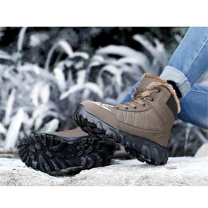 hommes d'hiver Safety Bottes 49 neige de Chaussures bottes Bottes Casual hommes pour pour d'hiver mode marron de hommes pour qfwxaI8f