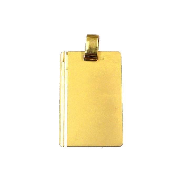 Pendentif en plaqué or médaille à graver 27mmx17mm - RC004391
