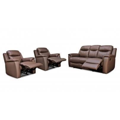Canapé 3 places et 2 fauteuils relax EVASION en… Achat Vente