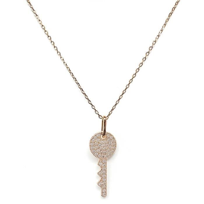 Elise M Cle Gold Chain Necklace IU7DJ