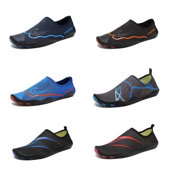Pieds nus rapide à sec Sports nautiques Chaussures Aqua Avec 14 trous de drainage pour nager, Marche, Yoga, Lac, Bea FMKNU Taille-45