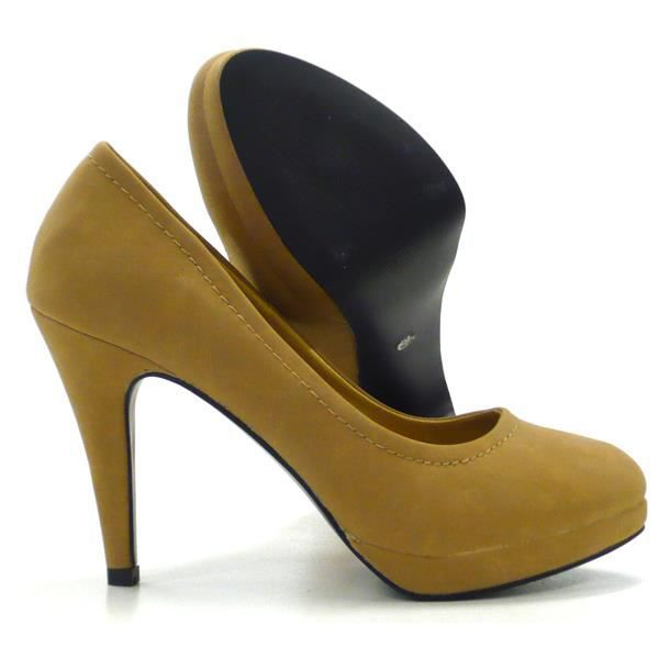 classique élégant femmes chaussures l'escarpin avec mineur Plateausemelle camel 38 N6ptSNoG0q