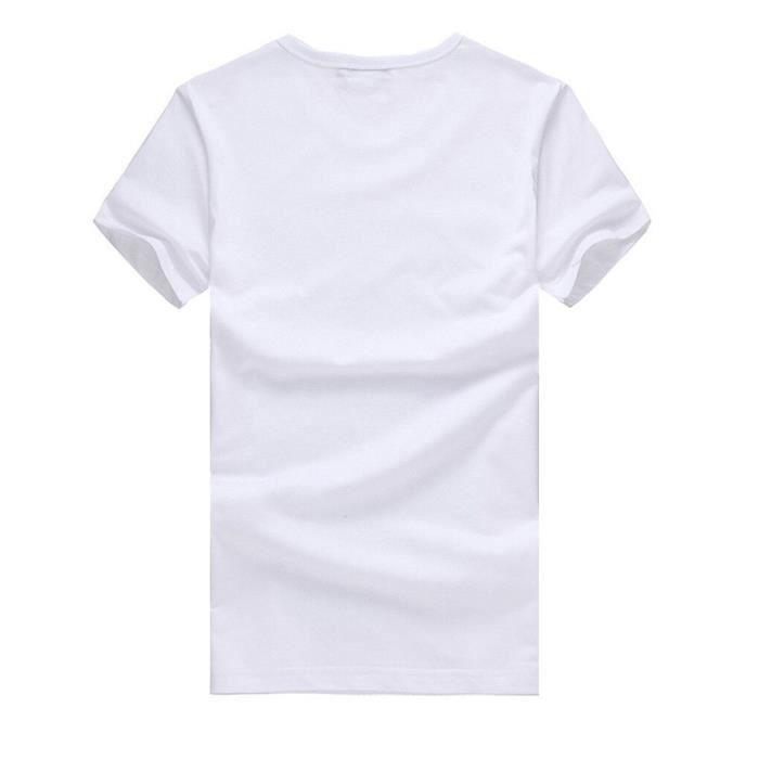 Lèvres Courtes Manches Personnalité T Couleur Col shirt Impression Rond Mode À Femmes q0Eaw