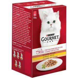 GOURMET Mon Petit repas pour chat adulte volaille 6 x 50 g