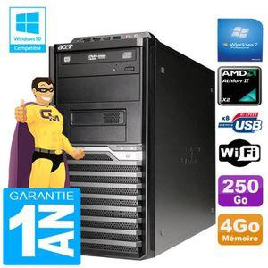 UNITÉ CENTRALE + ÉCRAN PC Tour ACER Veriton M421G Athlon II X2 4Go Disque