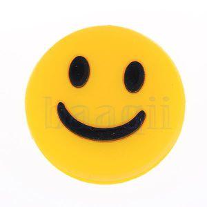ANTIVIBRATEUR 1pc caoutchouc silicone jaune Smiley Raquette de t