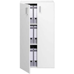 MEUBLE CLASSEMENT Armoire 2 portes 115,5cm Blanc -  Rangement Meuble