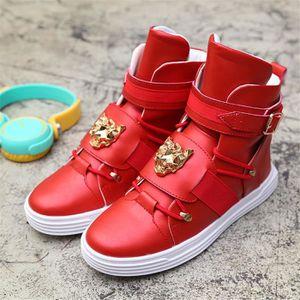 BOTTE Mode Bottes Mâle Chaussure Hommes... Rouge