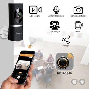 CAMÉRA IP 720P Caméra IP WiFi TECHSTICK® 180 degré Caméra pa