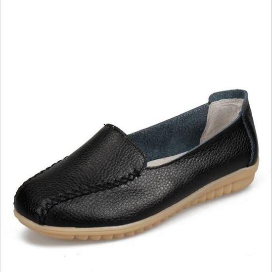 Mocassin Femmes Talon plat Leger Chaussure BYLG-XZ049Noir36 Noir Noir - Achat / Vente escarpin