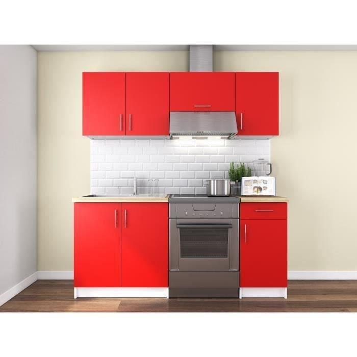 obi cuisine compl te l 1m80 rouge mat achat vente cuisine compl te obi cuisine compl te. Black Bedroom Furniture Sets. Home Design Ideas